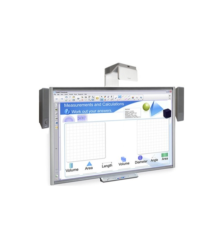 PACK PIZARRA DIGITAL SMART BOARD SBM680 + PROY. SMART UF70 + ALT. SMART SBA-V + CAJA CONEX.