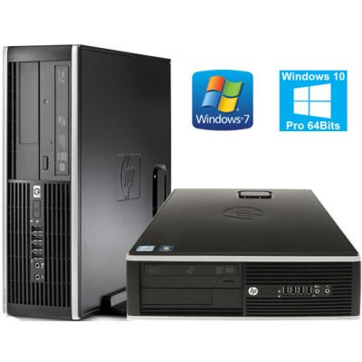 HP 8000 ELITE CORE 2 DUO E8400 4GB 250GB WIN7 PROF. 64BIT EDUCACION SFF OCASION