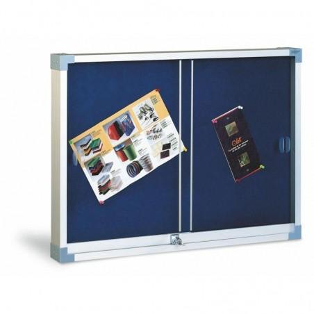 Vitrina tapizada puerta de metacrilato 80x100