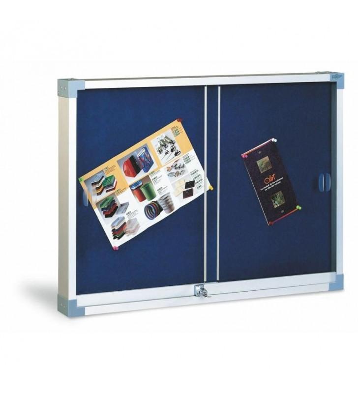 Vitrina tapizada puerta de metacrilato 90x120