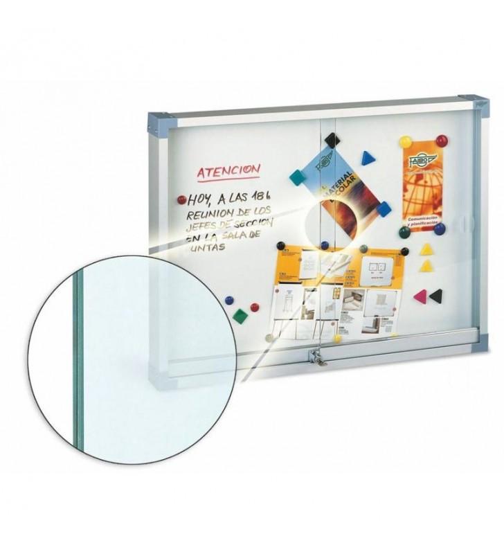 Vitrina metalica blanca cristal de seguridad 100x150