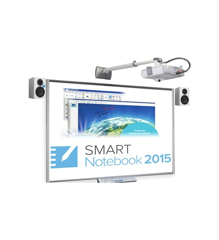 PACK PIZARRA DIGITAL SMART BOARD SBM680 + PROYECTOR EPSON EB-520 + ALTAVOCES + SOPORTE