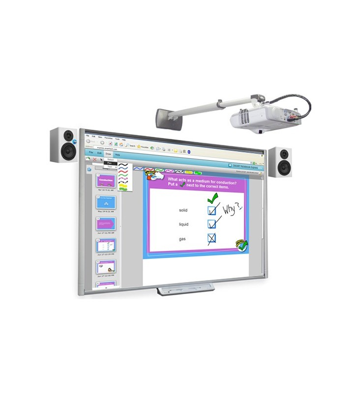PACK PIZARRA DIGITAL SMART BOARD SBM680V + PROYECTOR EPSON EB-520 + ALTAVOCES + SOPORTE