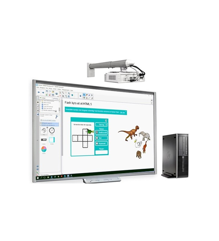 PACK PIZARRA DIGITAL SMART BOARD M680viv2 + ORDENADOR HP (SMART M680V + PROY. SMART V30 + SOP. PROY. + ORDENADOR HP)
