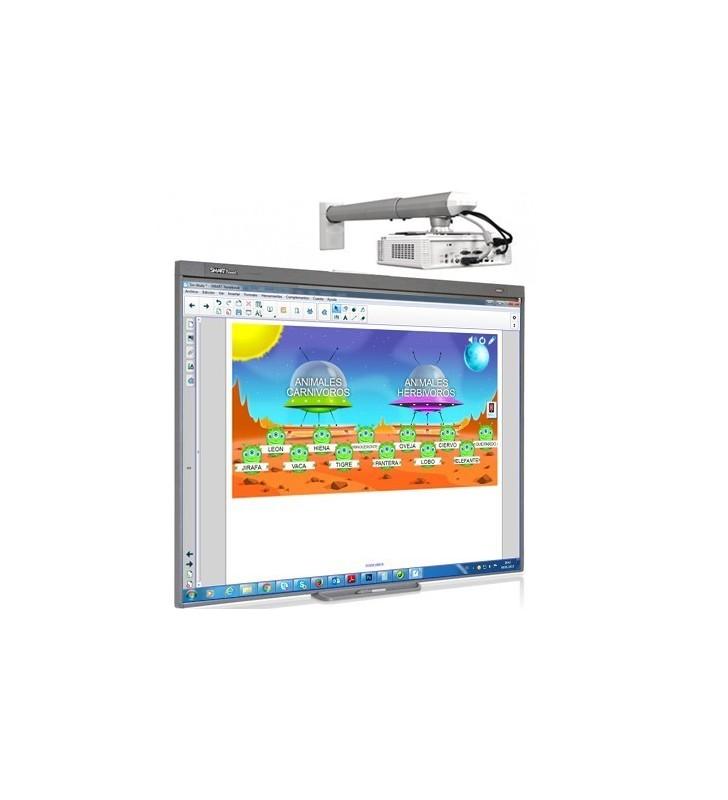 PACK PIZARRA DIGITAL SMART BOARD 480 + PROYECTOR OPTOMA X305ST + SOP. PROYECTOR