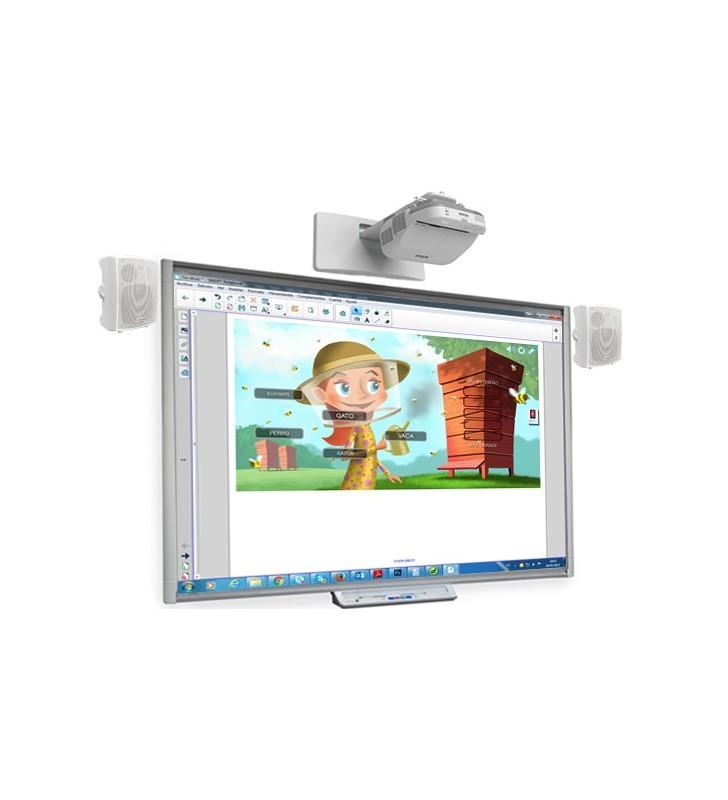 PACK PIZARRA DIGITAL SMART BOARD SBM680 + PROYECTOR EPSON EB-570 + ALTAVOCES + CAJA