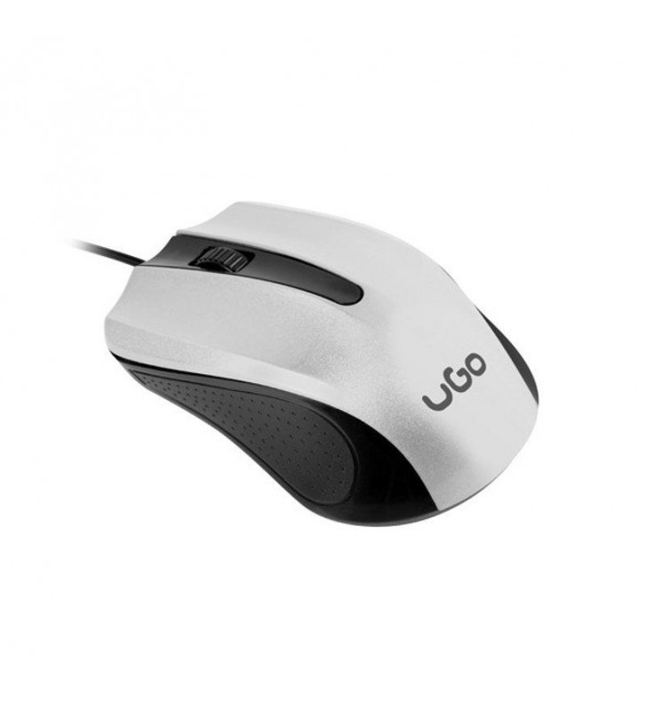 RATÓN CON CABLE UGO UMY BLACK WHITE - 1200DPI - 3 BOTONES - USB