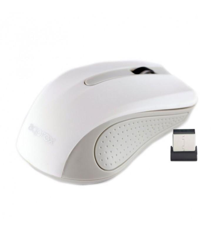 RATÓN ÓPTICO INALÁMBRICO APPROX APPWMLITEWV2 BLANCO - NANO RECEPTOR USB 2.4GHZ - 1200DPI - ALCANCE 6-10M - 2xAAA