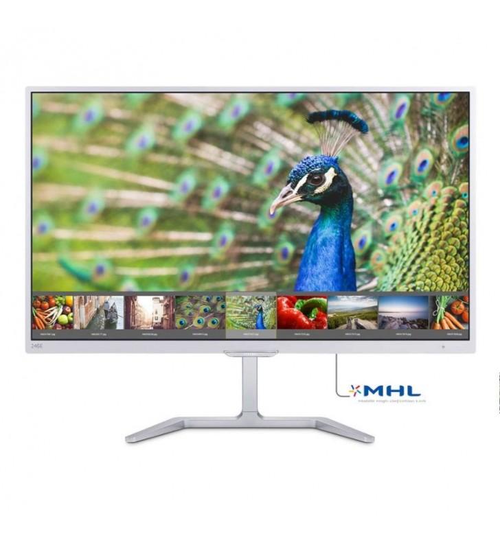 MONITOR LED PHILIPS 246E7QDSW - 23.6'/59.95CM FULL HD - 1920 X 1080 - 60HZ - 5MS - 20M:1 - 250CD/M2 - VGA - DVI-D - MHL HDMI - B