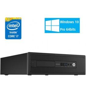 HP ELITEDESK 800 G1 INTEL CORE I7-4790 8GB 500GB SIN DVD SFF WIN 10  PROF. 64BIT EDUCACIÓN OCASION