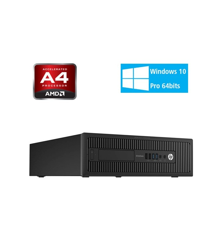 HP ELITEDESK 705 G1 AMD DUAL CORE A4 PRO-7300B 4GB 250GB DVD SFF WIN10 PRO EDUCACION OCASIÓN