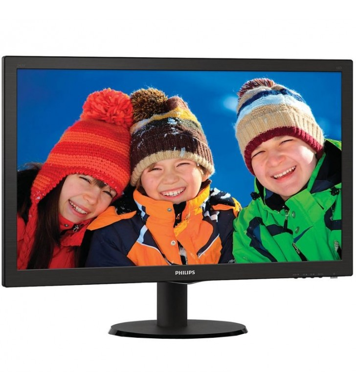 MONITOR LED MULTIMEDIA PHILIPS V-LINE 243V5LHAB 23.6'/ 59.9CM FULLHD 5MS 1000:1 250CD/M2 VGA HDMI 2X2W NEGRO