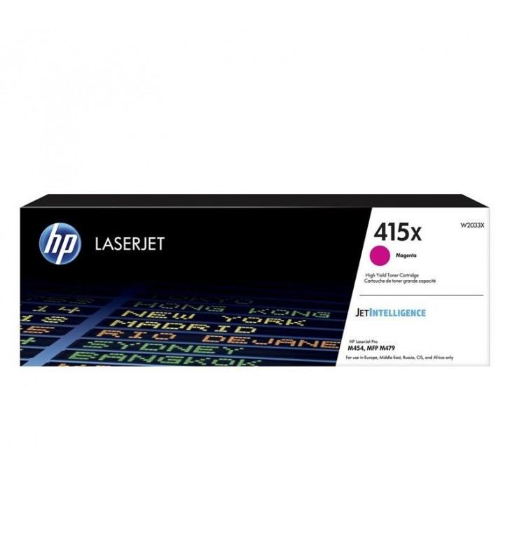 TONER MAGENTA HP W2033X - JETINTELLIGENCE - Nº 415X - 6000 PÁGINAS - COMPATIBLE SEGÚN ESPECIFICACIONES