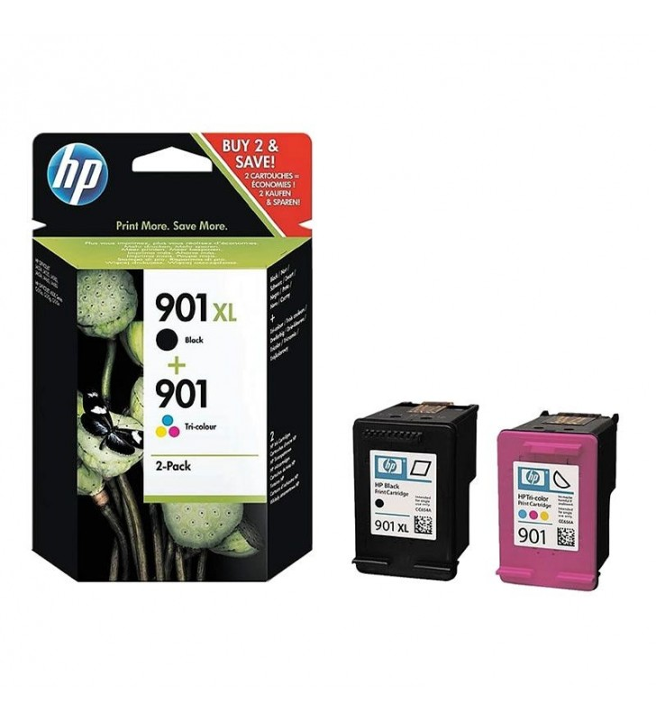 MULTIPACK  CARTUCHOS HP 901XL NEGRO - Nº901 TRICOLOR - COMPATIBLE SEGÚN ESPECIFICACIONES