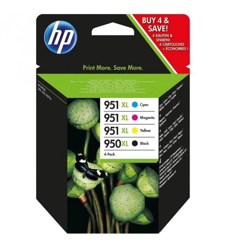 MULTIPACK 4 CARTUCHOS HP Nº950XL NEGRO - 951XL 1X AMARILLO / 1X CIAN / 1X MAGENTA - COMPATIBLE CON OFFICEJET PRO 8100 / 8610 / 8