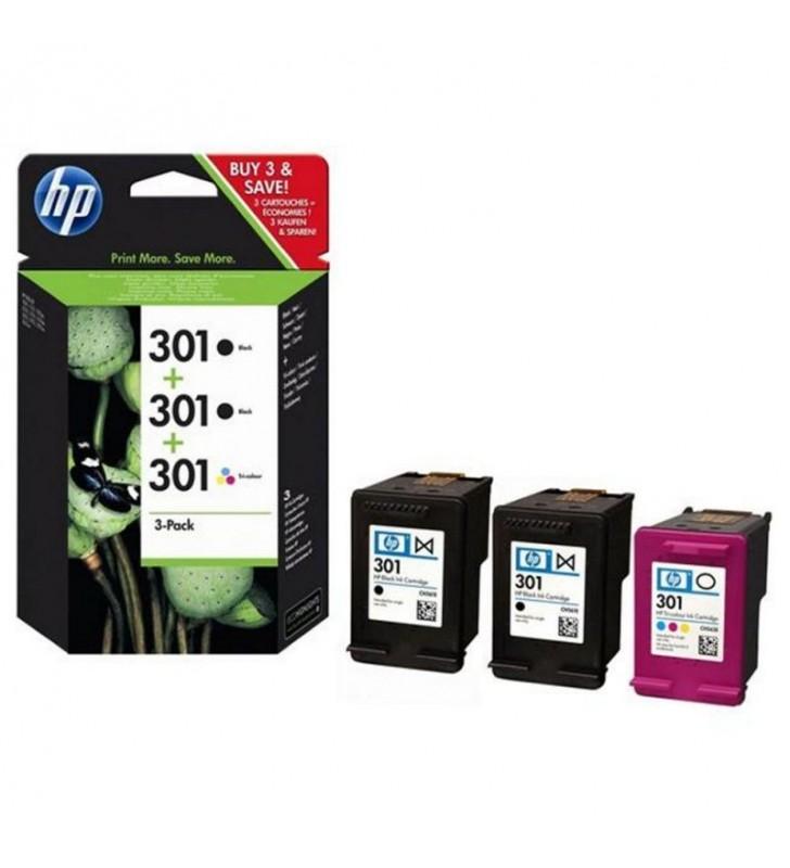 MULTIPACK 3 CARTUCHOS HP - 2 X Nº301 NEGRO + 1 X Nº301 COLOR - COMPATIBILIDAD SEGÚN ESPECIFICACIONES