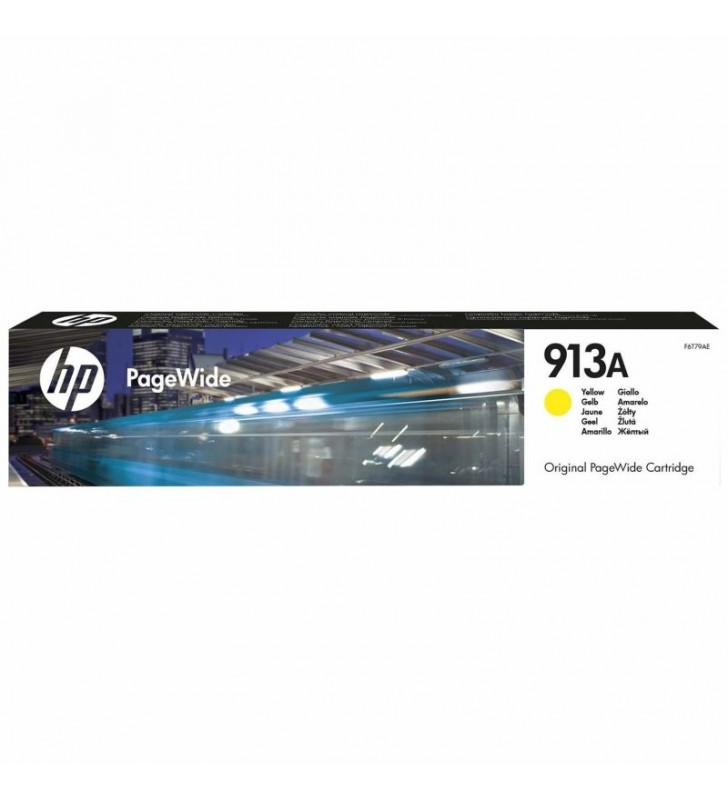 CARTUCHO AMARILLO HP PAGEWIDE 913A - 3000 PÁGINAS - PARA PAGEWIDE PRO 452DW / 477DW / 377DW / 452DWT