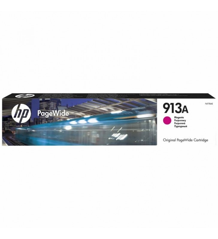 CARTUCHO MAGENTA HP PAGEWIDE 913A - 3000 PÁGINAS - PARA PAGEWIDE PRO 452DW / 477DW / 377DW / 452DWT