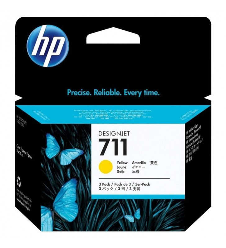 MULTIPACK 3 CARTUCHOS HP Nº711 AMARILLO - COMPATIBLE SEGÚN ESPECIFICACIONES