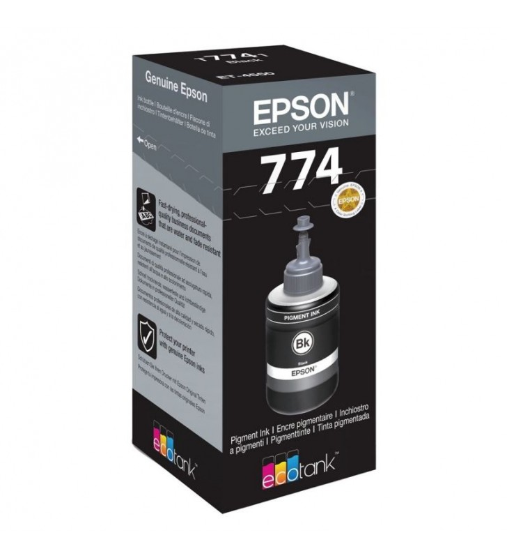 BOTELLA TINTA NEGRA EPSON T7741 - 140ML - COMPATIBLE CON ECOTANK ET-4550