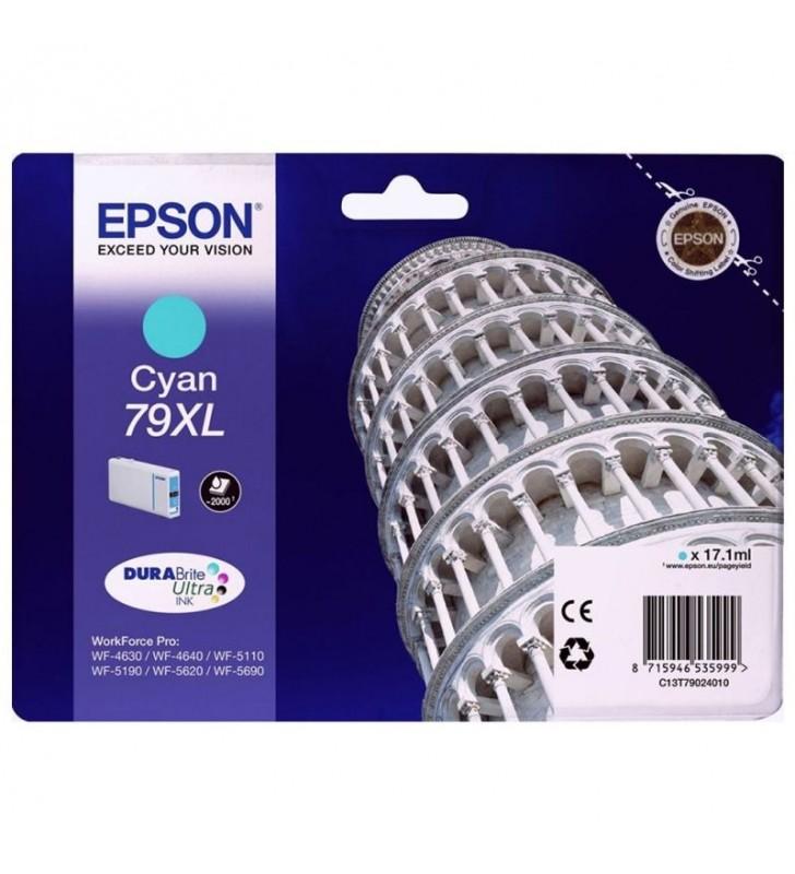 CARTUCHO TINTA CIAN EPSON 79XL - 17.1ML - TORRE DE PISA - PARA WF-4630DWF / 4640DTWF/ 5110DW / 5190DW / 5110DW / 5190DW / 5620DW