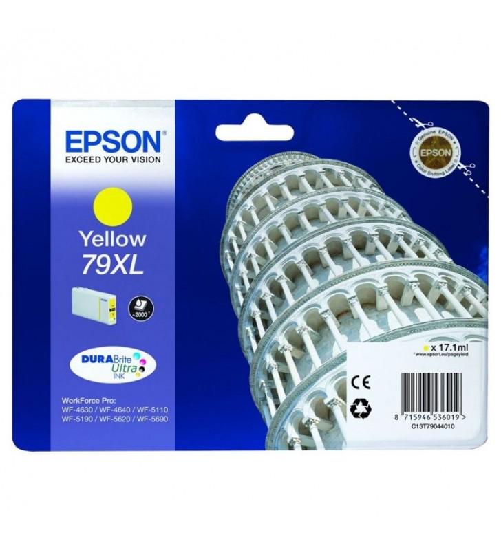 CARTUCHO TINTA AMARILLO EPSON 79XL - 17.1ML - TORRE DE PISA - PARA WF-4630DWF / 4640DTWF/ 5110DW / 5190DW / 5110DW / 5190DW / 56