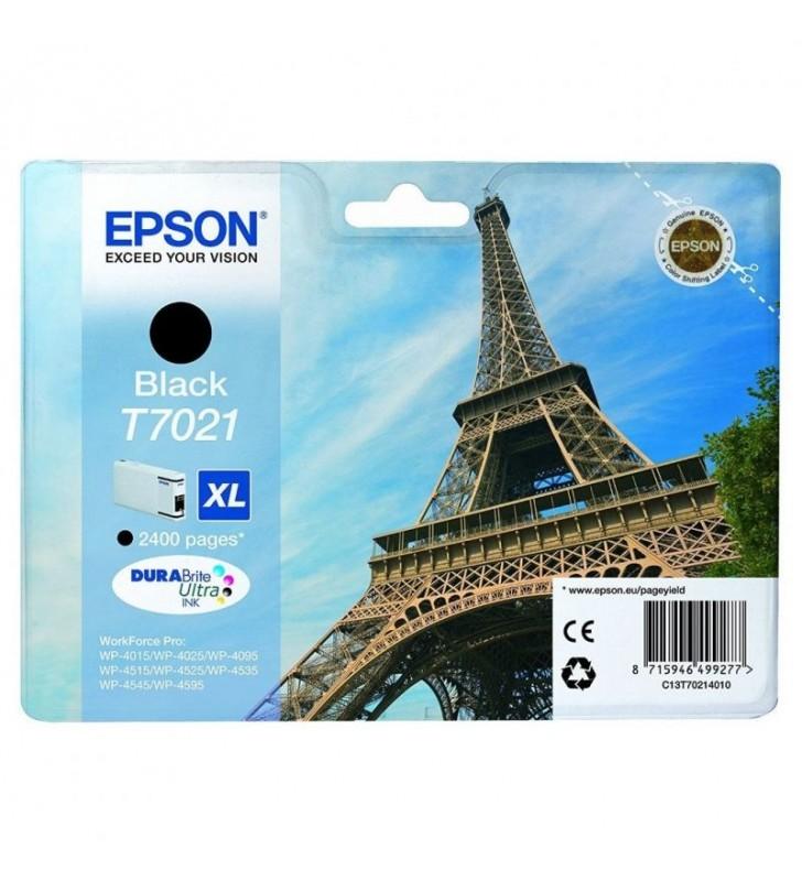 CARTUCHO TINTA NEGRO EPSON T7021XL - 45.2ML - TORRE EIFFEL - PARA WP-4595 / 4545DTWF / 4535DWF / 4525DNF / 4515DN / 4095DN / 402