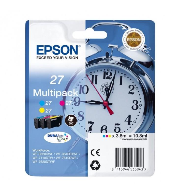 CARTUCHO TINTA EPSON MULTIPACK 27 10.8ML 3 COLORES ( AMARILLO / CIAN / MAGENTA ) - DESPERTADOR