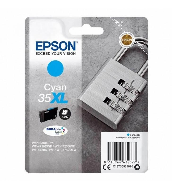 CARTUCHO TINTA CIAN EPSON 35XL - 20.3ML - CANDADO - COMPATIBLE SEGÚN ESPECIFICACIONES