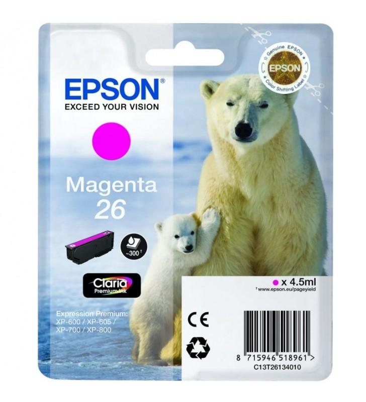 CARTUCHO TINTA MAGENTA EPSON 26 - 4.5ML - OSO POLAR - COMPATIBLE SEGUN ESPECIFICACIONES
