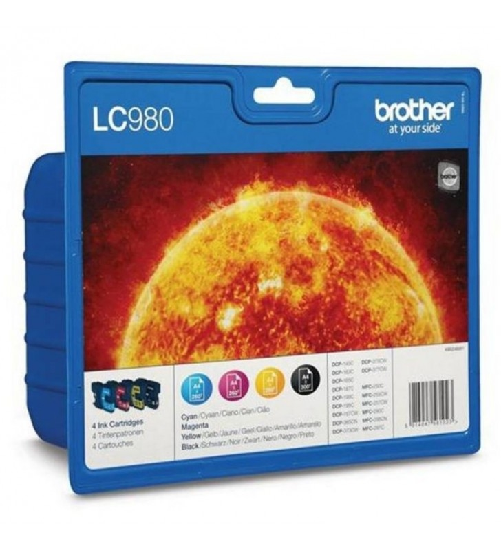 CARTUCHO TINTA BROTHER LC-980 VALUE PACK NEGRO/COLOR