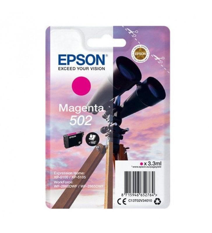 CARTUCHO TINTA MAGENTA EPSON 502 - 3.3ML - BINOCULARES - COMPATIBLE SEGUN ESPECIFICACIONES