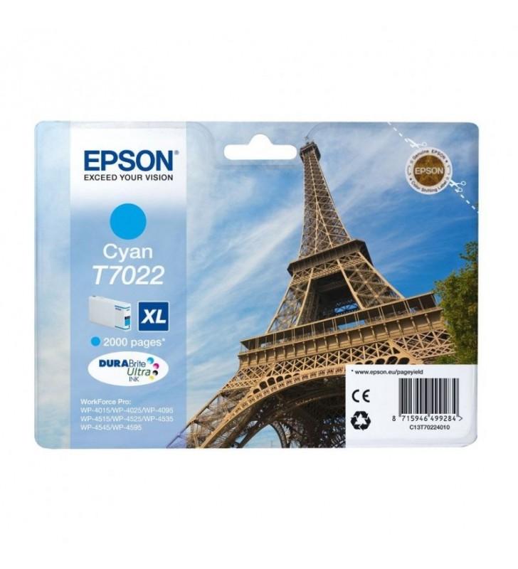 CARTUCHO CIAN XL EPSON T70224010 - 2000 PAGINAS - COMPATIBLE SEGUN ESPECIFICACIONES