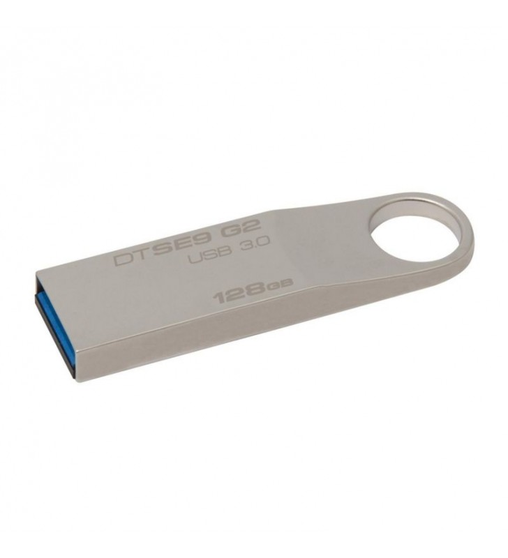 PENDRIVE KINGSTON DATA TRAVELER SE9 G2 128GB USB 3.0 PLATA