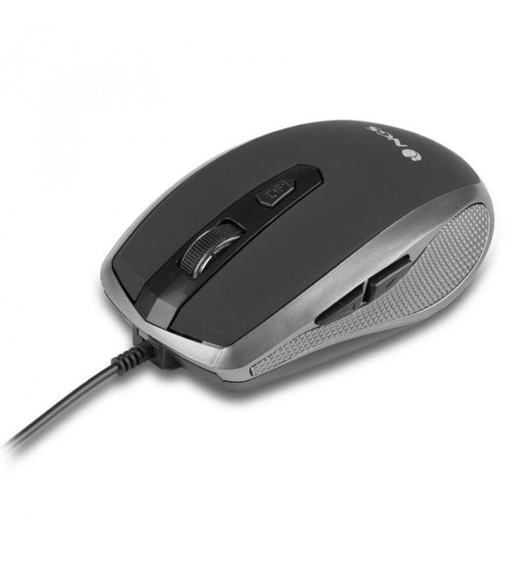 RATON CON CABLE NGS TICK SILVER - 800/1600DPI - 6 BOTONES - USB