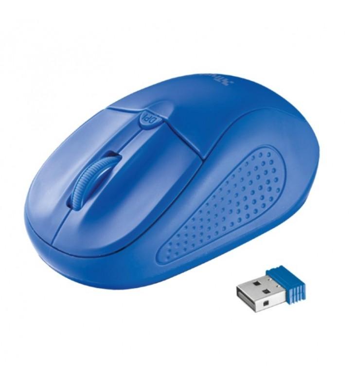 RATÓN INALÁMBRICO TRUST PRIMO BLUE - ALCANCE 6M - 1000-1600 DPI - MICRO RECEPTOR - APTO DIESTROS Y ZURDOS - 2X AAA - 20786