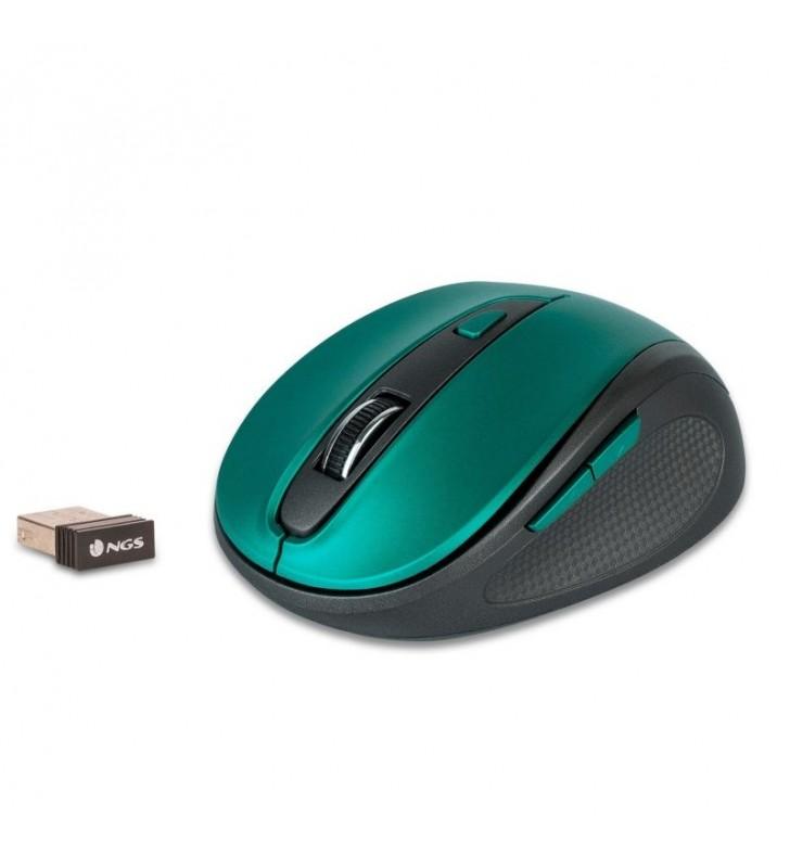 RATÓN INALÁMBRICO NGS EVO MUTE BLUE - 800/1600 DPI - 2.4 GHZ - 5 BOTONES SILENCIOSOS - RECEPTOR NANO USB - 2XAAA