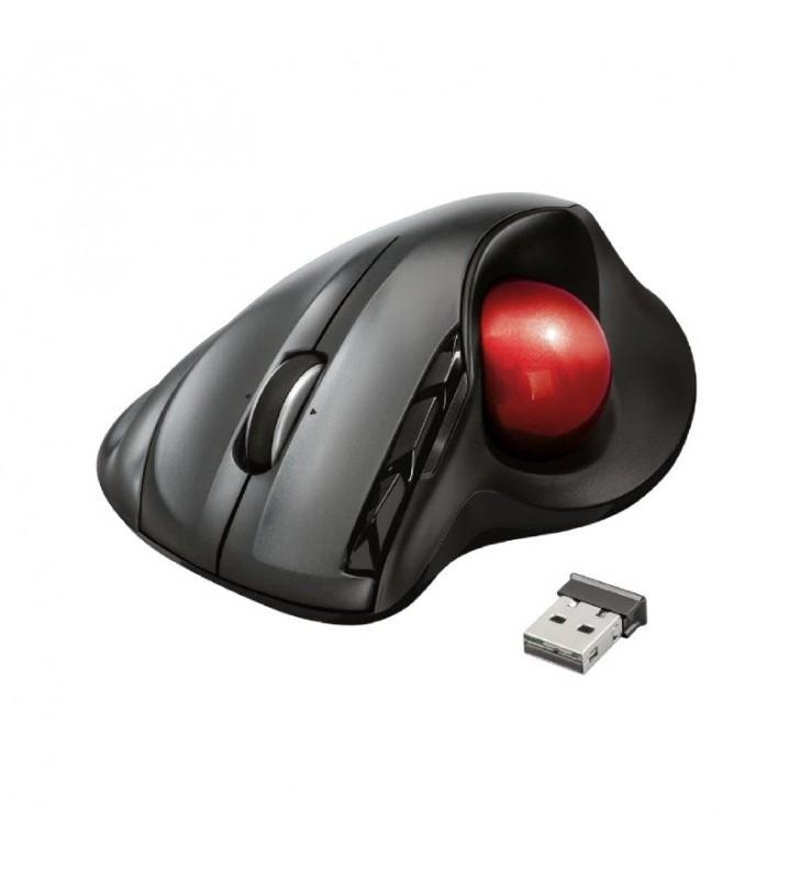 RATÓN INALÁMBRICO SFERIA WIRELES TRACKBALL - ALCANCE 8M - 450/1600PPP - 2.4GHZ - 2 BOTONES PROGRAMABLES - RECEPTOR NANO USB - ER