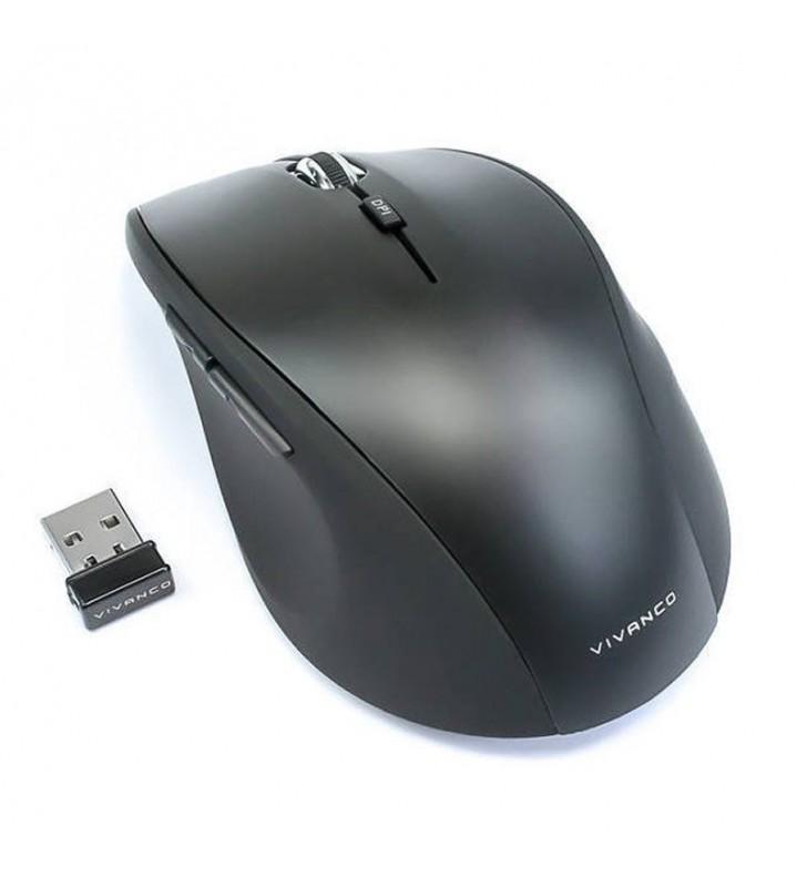 RATÓN INALÁMBRICO VIVANCO 36640 NEGRO - 1000/1200/1600DPI - 5 TECLAS INCLUYENDO SCROLL - RECEPTOR MINI USB