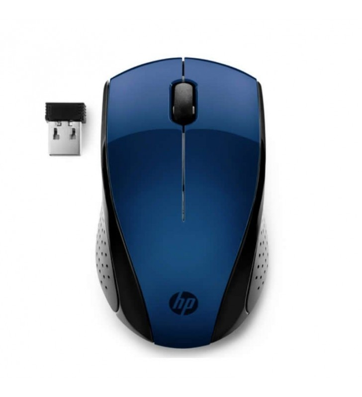 RATÓN INALÁMBRICO HP 220 LUMIERE BLUE - 2.4GHz - 1200PPP - 3 BOTONES - LED AZUL - 1600DPI - NANO RECEPTOR USB - 1*AA