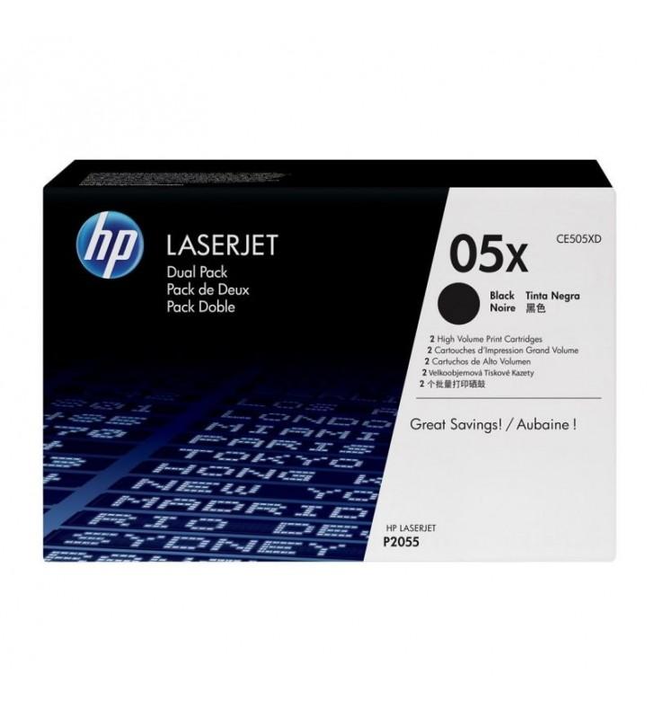 TONER NEGRO HP CE505XD 2 UNIDADES PARA HP LASERJET P2055 - 6500 PÁGINAS C/U - COMPATIBLE CON LASERJET P2055