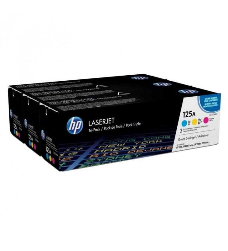 PACK TONER COLOR HP Nº125A - CIAN - MAGENTA - AMARILLO - 1400 PAG POR TONER - COMPATIBLES CON LASERJET CP1215/N / CP1515N / CP15