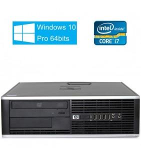 HP 8300 ELITE CORE I7-3770 4GB 128GB SSD  DVD SFF WIN10 PRO EDUCACION OCASION