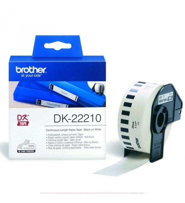 CINTA DE PAPEL CONTINUO BROTHER DK22210 2.9CM X 30.48M