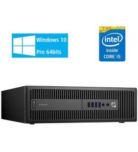 HP ELITEDESK 800 G2 INTEL CORE I5-6400 8GB SSD 240GB DVD SFF WIN 10  PROF. 64BIT EDUCACION OCASION