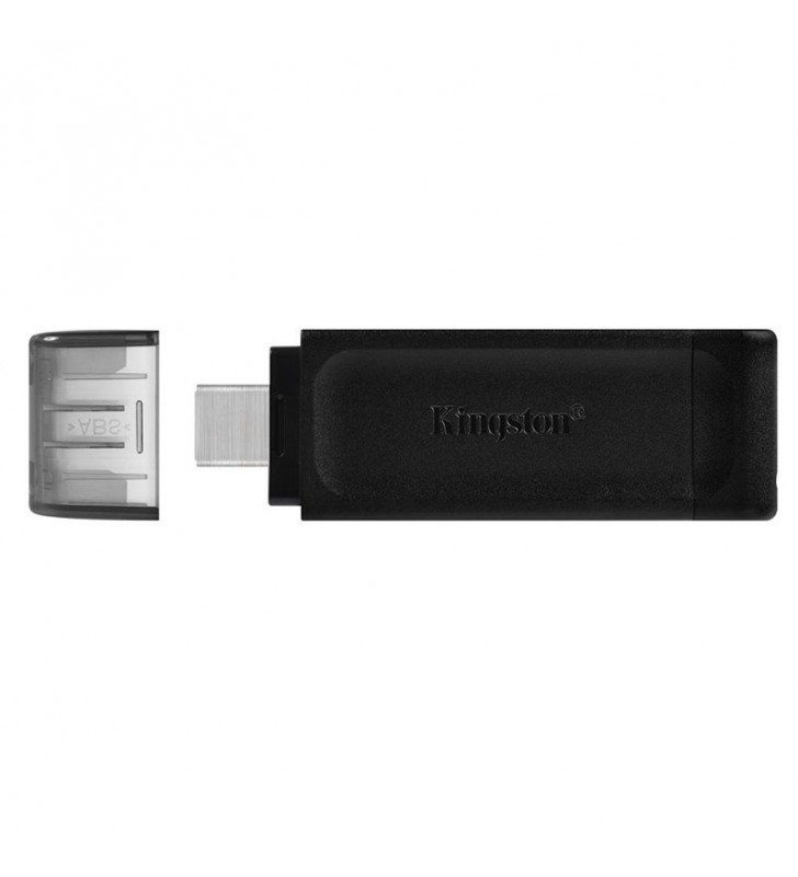 PENDRIVE KINGSTON DATATRAVELER 70 128GB - CONECTOR USB TIPO-C - USB 3.2 GEN 1 - NEGRO