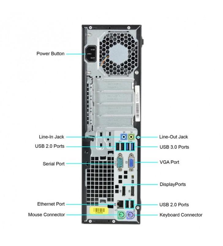HP ELITEDESK 800 G1 I5-4570 8GB SSD 256GB DVD SFF WIN10 PRO EDUCACION OCASION