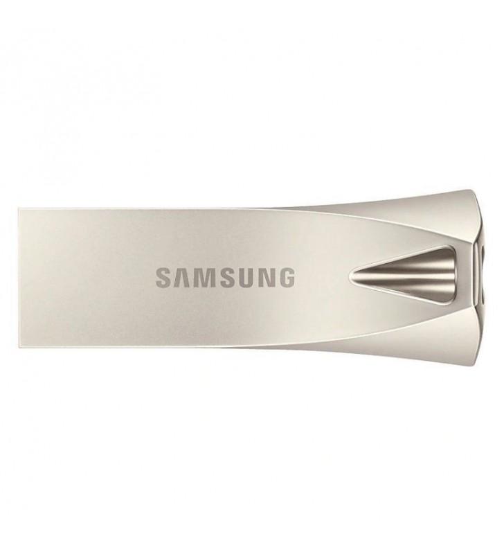 PENDRIVE SAMSUNG BAR PLUS CHAMPAIGN SILVER 128GB - USB 3.1 - 300MB/S LECTURA