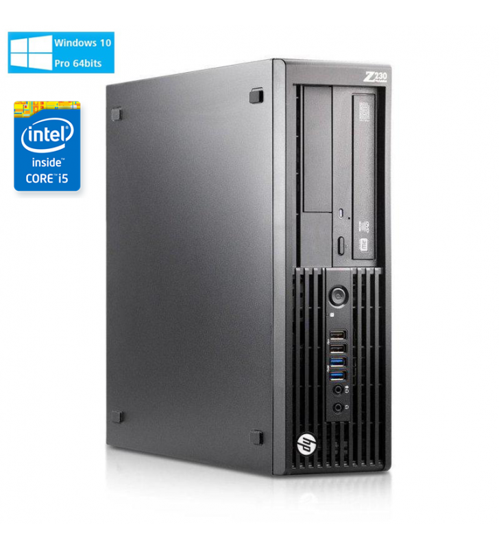 HP WORKSTATION Z230 G1 I5-4590 8GB SSD 256GB DVD SFF WIN10 PRO EDUCACION OCASION