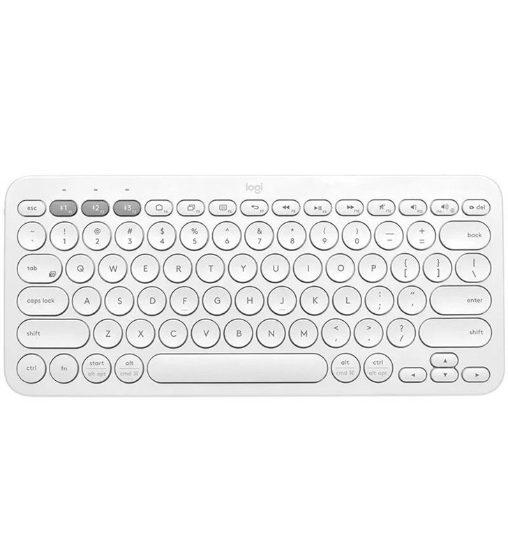 Teclado Compacto Inalámbrico por Bluetooth Logitech K380/ Blanco